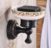 New Arrivals High Quality Solid Brass Antique Black Oil Brushed Finishing Soap Dish Brass Soap Holder
