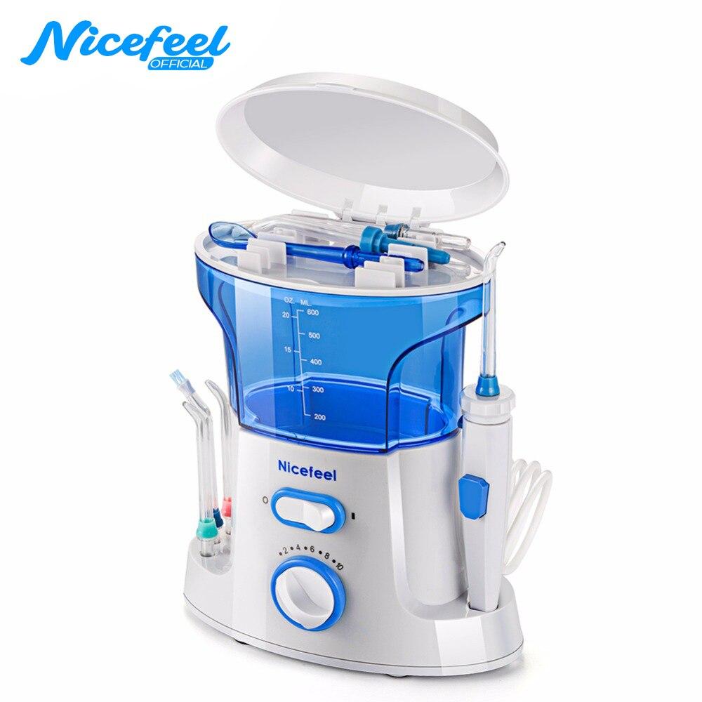 Nicefeel Dental Flosser Oral irrigador Flosser Dental Floss Dental Water Jet agua selecciones seda Floss agua Oral riego