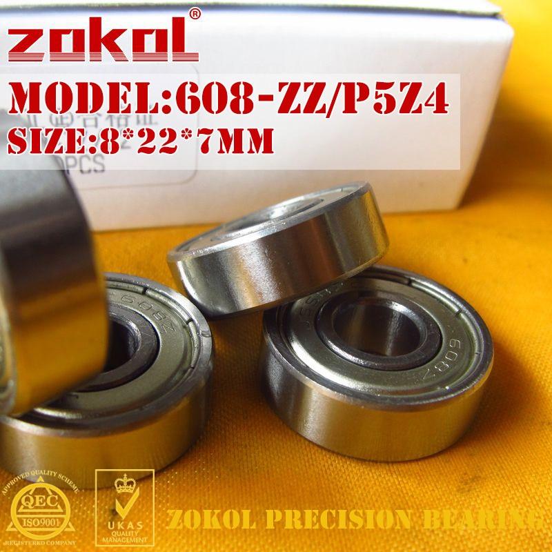 ZOKOL 608ZZ P5Z4 bearing 608 ZZ P5Z4 Miniature 608-ZZ P5Z4 Deep Groove ball bearing 8*22*7mm gcr15 6326 zz or 6326 2rs 130x280x58mm high precision deep groove ball bearings abec 1 p0