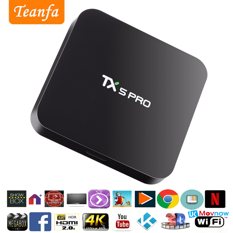 TX5 Pro Android 6.0 TV BOX 2G/16G Amlogic S905X Quad core Bluetooth Dual Wifi Smart Media Player HD 4K KD 16.1 Set Top TV Box цена