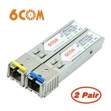 2 pair 1000base bx bidi sfp 1310nm/1550nm 3km módulo única fibra sc conector ddm transceptor