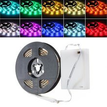 RGB LED Lampu Strip Fleksibel Lampu Ribbon Tape dengan Baterai Kotak Tahan Air IP65 3 Mode 20 Warna 50 Cm 100 CM 150 Cm 200 Cm(China)