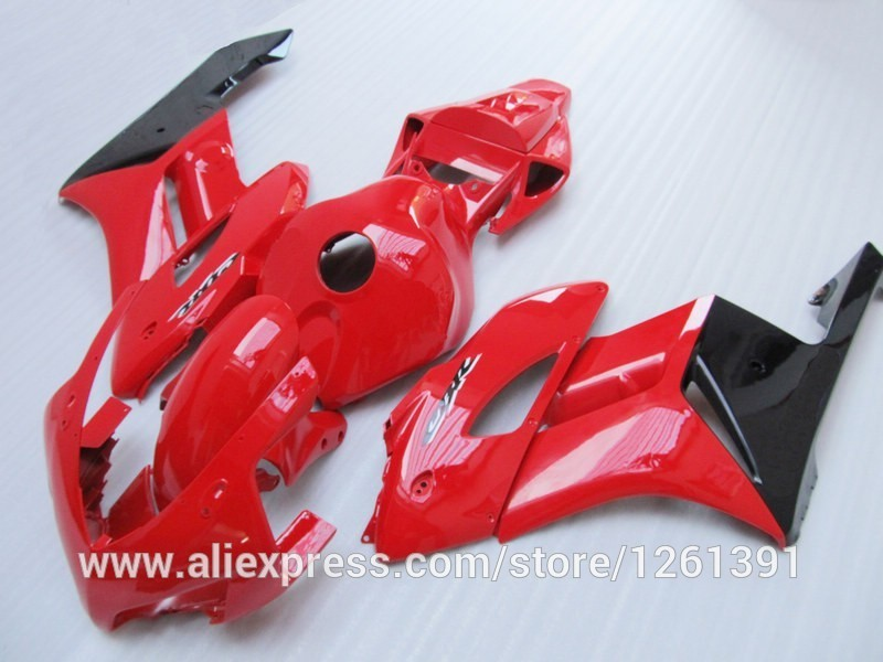 Подходит инъекции Обтекатели для Honda CBR1000RR 04 05 CBR1000 2004 2005 CBR 1000RR 04 05 черный, Красный обтекателя комплекты#6A6T5