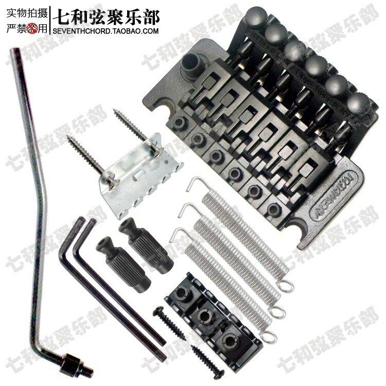 Electrophoresis black electric guitar duplex tremolo violin bridge system duplex shaking tailpiece guitar warbler BY