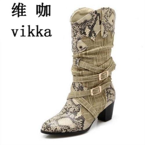 Women s Winter Snow font b Boots b font Lady s Western font b Cowboy b