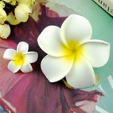 2 ピースサニー高輝度プルメリアの花の写真の背景アクセサリー Diy の装飾化粧品プレゼントの写真撮影の装飾品