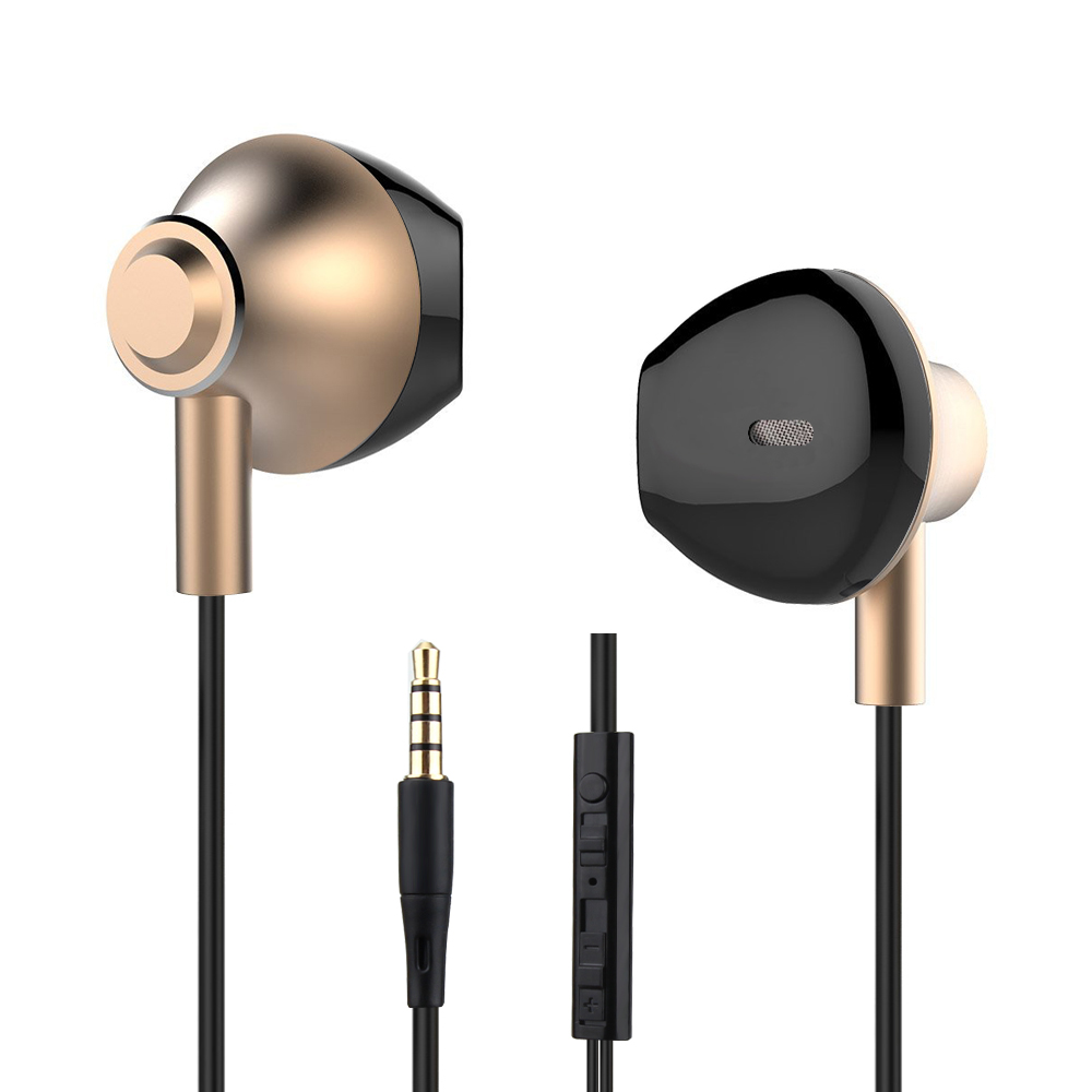 Daono In-Ear Earphone Headset In-line Control Clarity Stereo Sound With Mic Earphones For iPhone Mobile Phone MP3 MP4 yl in ear earphones w mic line control for samsung galaxy n7100 note 3 n9000 pink 112cm