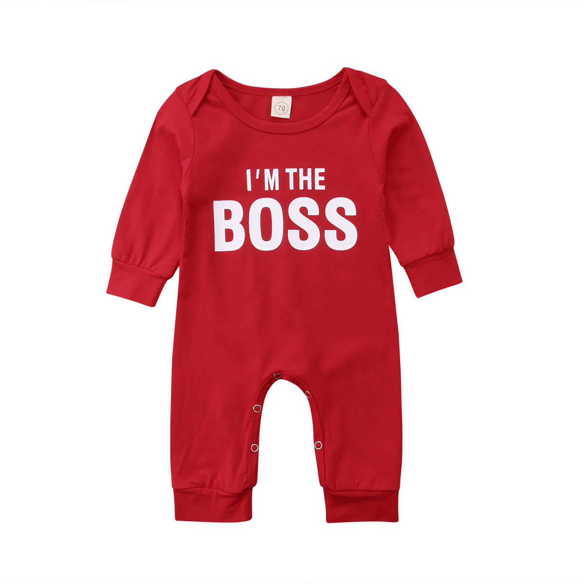Der Chef Neugeborenen Baby Junge Mädchen Langarm Brief Drucken Baumwolle Romper Overall Outfits Baby Kleidung Rot Reinigen Der MundhöHle. Bodys & Einteiler