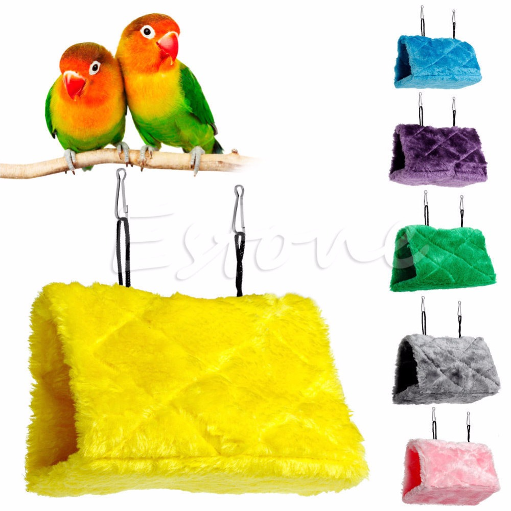 Bird Parrot Plush Hammock Cage Snuggle Happy Hut Tent Bed Bunk Toy Hanging Cave -y102