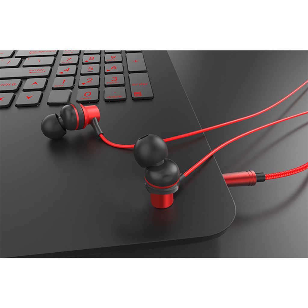 Słuchawki HIFI Dual Dynamic Driver słuchawki Super stereofoniczny zestaw słuchawkowy ze wzmocnieniem basów z mikrofonem przewodowe słuchawki douszne słuchawki do iPhone'a Samsung