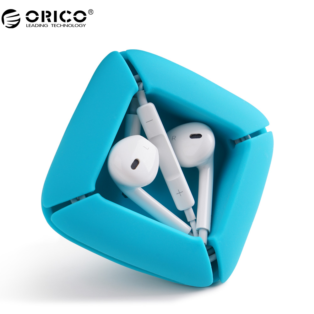 ORICO ELR1 Earphones Organizer Silicone Cable Winder Cable Manager for Earphone Headphone Cables арматура крепежная apc horizontal cable manager