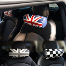 Car Seat Headrest Pad Leather Head Neck Rest Cushion Pillow For BMW Mini Copper one JCW F55 F56 F60 R60 R55 R56 Car Accessories car seat covers for bmw mini cooper r55 r60 wholesale waterproof leather auto seat protector accessories