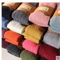 Tendência Knitting alta elástico super de Slim mulher meia calça moda casual listras verticais calças justas 18 cores navio livre