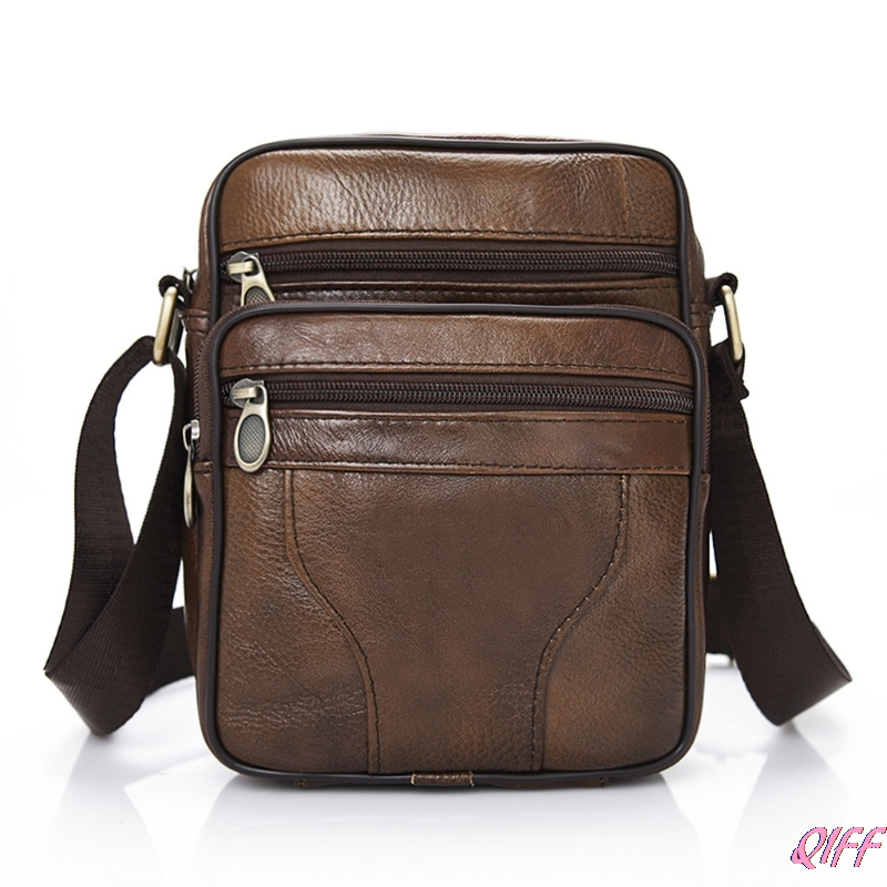 Casual Men Leather Vintage Shoulder Bag Messenger Crossbody Bags Handbag
