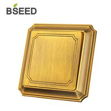 BSEED Bronzed Luxury Light Switch 110-250V Wall Electric Switch Push Button 3 Gang Light Switch 16A Switch 5pcs 13a xe 3 jb 01e switch electric kettle thermostat switch steam medium kitchen appliance parts