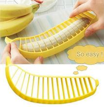 1 pcs Banana Slicer Chopper Cutter Plastic Banana Salad Make Tool Fruit Salad Sausage Cereal Cutter