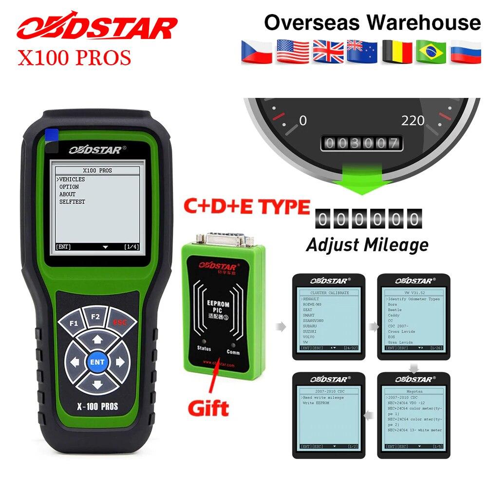 Obdstar X100 PROS Auto Key Programmer C D E including EEPROM x100 pro for immobilizer Odometer