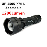 UniqueFire UF 1505 Adjustable Focus CREE XML T6 LED 18650 Flashlight Torch 1200LM 5 Modes (Hi Mid Low Storbe Sos)