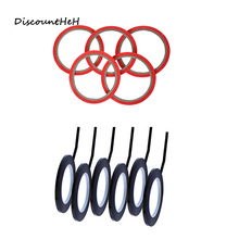 Red Black Paper Fine Line Masking Tape Good For Finger Nail Polish Painting Decoration Apparel Design Labeled Line