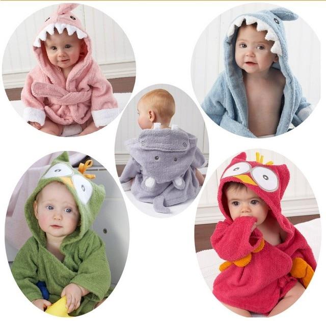 Blue Shark Baby Bath Towels Newborn Blanket Bedding Swaddle Bebe Bathrobe Hooded Bathing Towel Baby Cloth