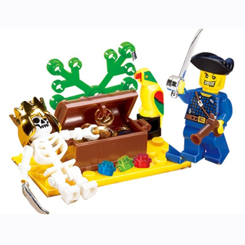 Pirate Toys For Boys : Pcs pirate ship blocks kids skeleton island adventures