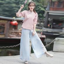 Черная Женская Повседневная рубашка с длинным рукавом, традиционный китайский стиль, топ Тан, классический воротник-стойка, блузка, винтажная ткань