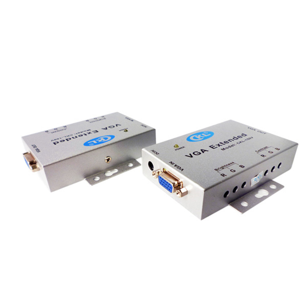 VGA Signal Extender Amplifier Up To 150M (492 Ft) Over Cat5e Cable Bandwidth 500MHz Support 2048*1536 Metal Case CKL-150V