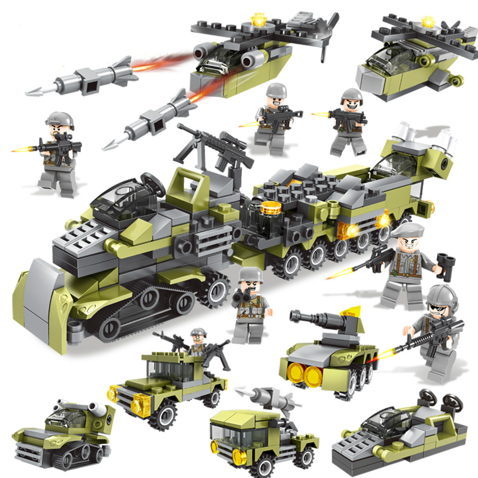 015 296pcs Wildness Action Constructor Model Kit Blocks Compatible LEGO Bricks Toys For Boys Girls Children Modeling