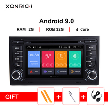 Xonrich 2 Din Android 9,0 Автомобильный DVD плеер для Audi A4 B8 B6 B7 S4 8E 8 H 8F B9 SEAT EXEO 2002-2008 GPS Радио Навигация 2 ГБ + 32 ГБ