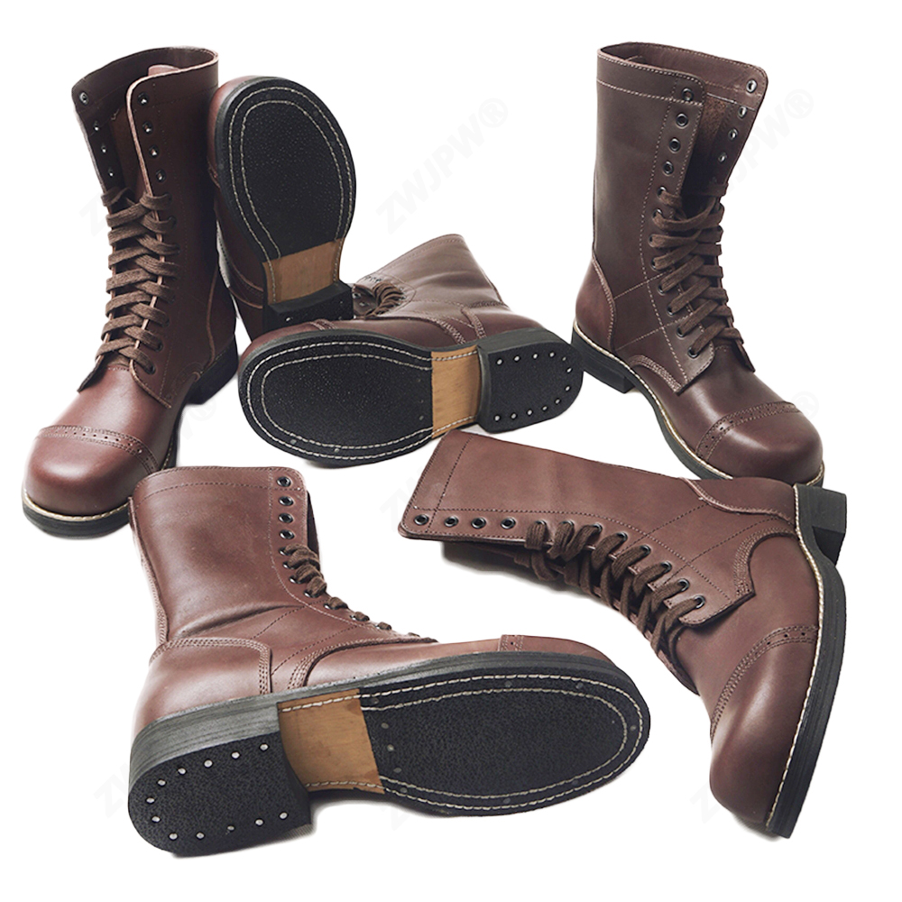 WW2 U S Army 82 101 Airborne Paratroopers Boots shoes Leather High Quality US 503312