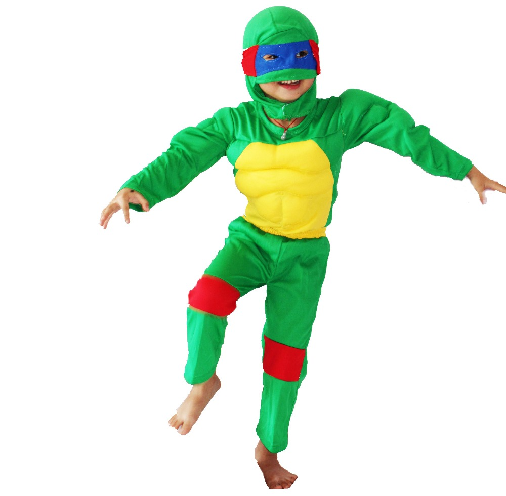 Wholesale & retail 3 -7 years Muscle Boy Role-playing cosplay,Halloween costumes kid Ninja turtle muscle model clothing