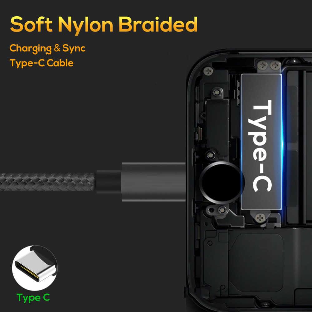 AFY USB نوع C كابل 2.4A سريع شحن نوع-C كابل USB لسامسونج S9 S8 ملاحظة 9 8 هواوي Xiaomi Redmi ملاحظة 7 USB C البيانات الحبل