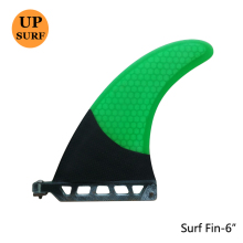 "6 ""Length Top Quality Center Sirip Long Board Fins Green Surf Fins"