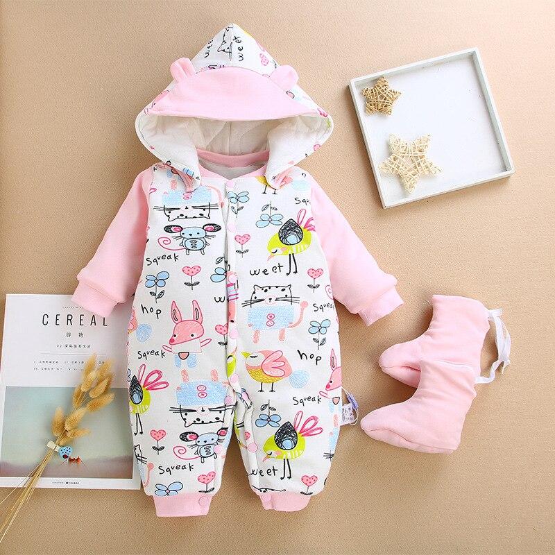 2d50dae52 BibiCola baby boys girls rompers winter newborn baby long sleeve ...