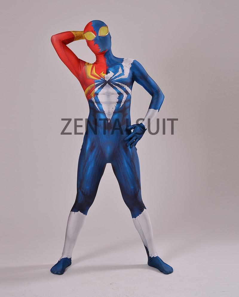 Half Symbiote Iron Spider Disfraz Diseñado en 3D Fullbody Spiderman - Disfraces - foto 4