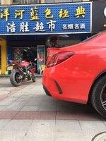 Acessórios do carro de fibra de carbono spoiler para benz cla w204 w205 w212 w117 2014-up asa spoilers modificação do carro de alta qualidade