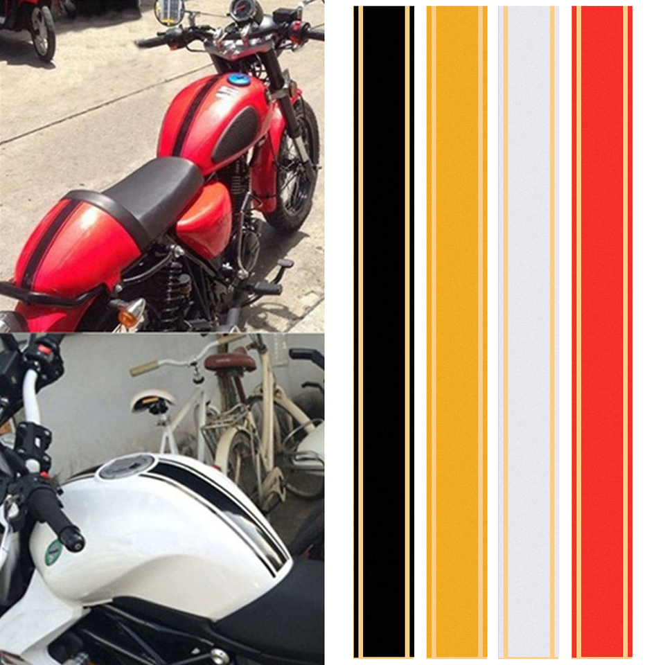 1pcs Universal Diy Car Sticker Motorcycle Tank Cowl Vinyl Stripe Pinstripe Decal Sticker For Cafe Racer 50 X 4 5 Cm Car Styling Car Sticker Decal Stickercar Styling Aliexpress