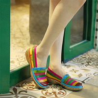 Women genuine cow leather flats casual designer vintage Retro lady flats shoes handmade oxford shoes for women 2019 summer
