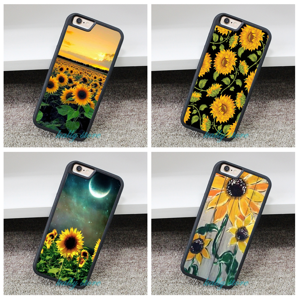 Sunflower Imitation Wood fashion phone Cover Case for iphone 4 4S 5 5S 5C SE 6