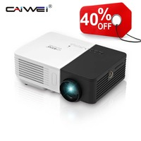CAIWEI Free Shipping Best Present for Kids Mini LCD LED Projector Portable Home Theater Proyector Wired Sync Display For Iphone