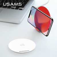 USAMS 2 in 1 Vertical Phone Holder Qi Wireless Charger Auto disconnect QC 3.0 Fast Charger For iPhone X 8 8P Samsung S8/S8+/S7
