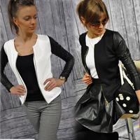 Демисезонная куртка-бомбер женская куртка-Авиатор черно-белые бейсбольные жакеты Mujer Jaqueta Feminina пальто для женщин