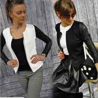 Chaqueta de bombardero de primavera y otoño para Mujer chaqueta de Aviador chaqueta de béisbol blanca negra chaqueta de Mujer