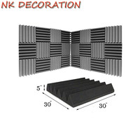 NK DECORATION 12PCS / Set Sound Absorbing Foam For Home Theatres & Studio Music Room Acoustic Wedge Sponge Wedge Studio Foam