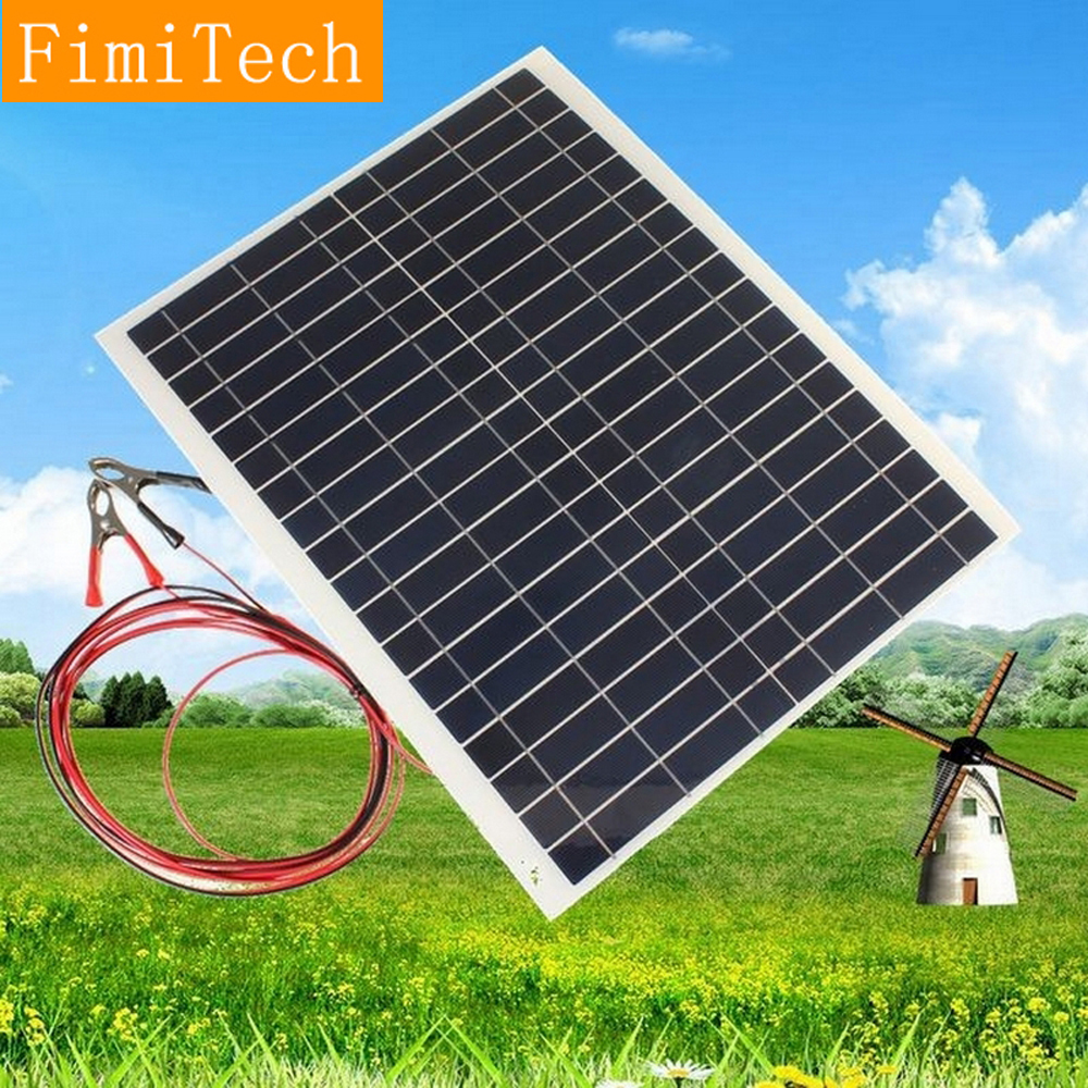 Solar Panel 20W 12V Polycrystalline Silicon Semi Flexible Solar Cell Diy Board Celular Placa Solar For