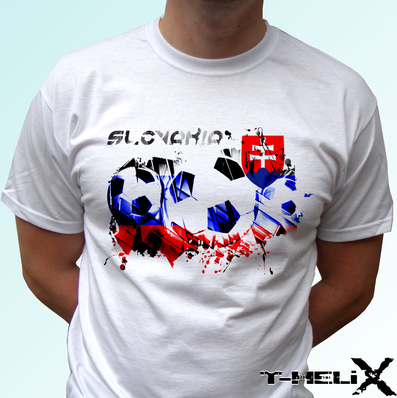 Slovakia New T-Shirt Map Flag Top Country Gift Present City Holiday Tee