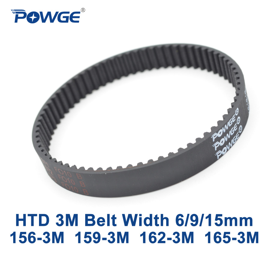 POWGE Arc HTD 3M Timing belt C= 156 159 162 165 width 6/9/15mm Teeth 52 53 54 55 HTD3M synchronous 156-3M 159-3M 162-3M 165-3M powge arc htd 3m timing belt c 264 267 270 273 width 6 9 15mm teeth 88 89 90 91 htd3m synchronous 264 3m 267 3m 270 3m 273 3m