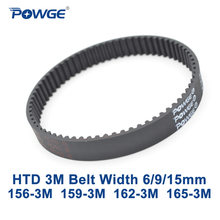 Powge Arc Htd 3M Timing Belt C = 156 159 162 165 Lebar 6/9/15 Mm gigi 52 53 54 55 HTD3M Sinkron 156-3M 159-3M 162-3M 165 -3M(China)