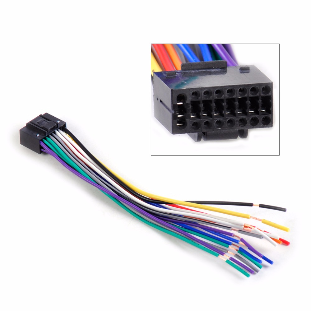 kenwood car stereo promotion shop for promotional kenwood car new car radio stereo wire wiring harness cd player plug adapter cable cord fit for kenwood car stereo 16 pin connector
