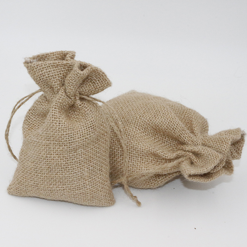 3Pcs 16x20cm Drawstring Bag Custom Jute Pouch Packaging